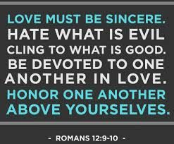 Image result for Romans 12:9