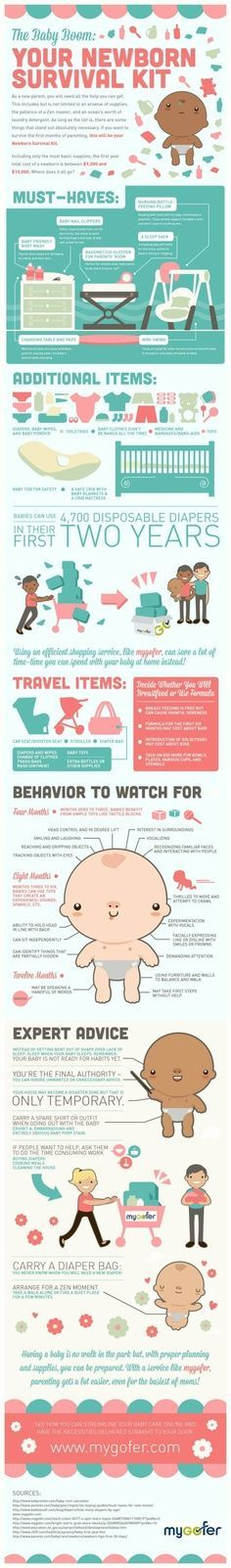 A whole ton of things about babies #infographics