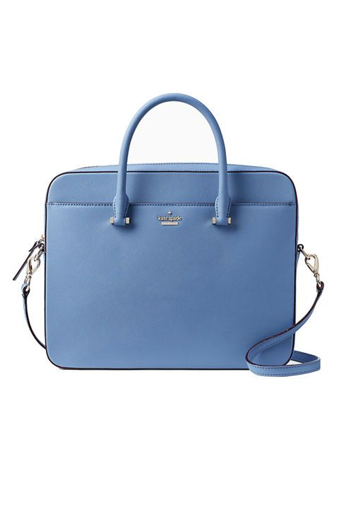 Update your old laptop sleeve with a grown up Kate Spade laptop bag. The cool blue color is mature yet fun at the same time.