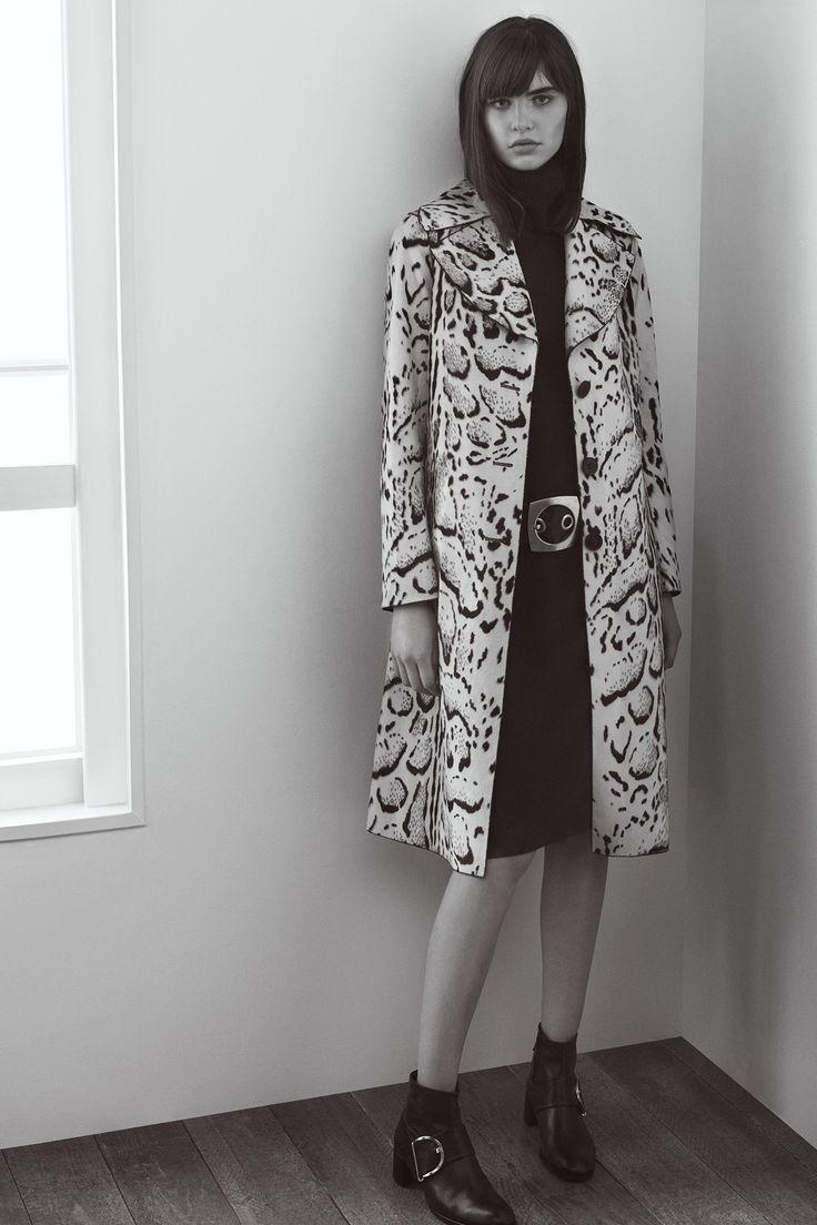 Abrigo eco-piel con animal print - AD Mujer | Adolfo Dominguez shop online