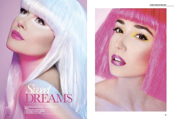 Sweet dreams editorial- Make-up Trendy magazine 2/2015