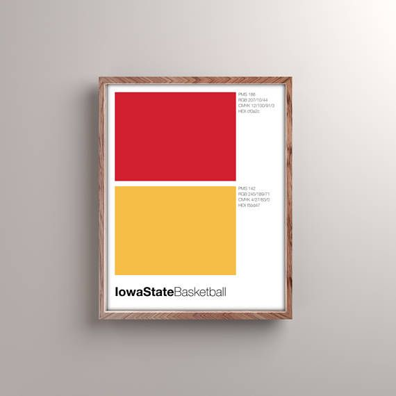 Design nerds can be sports fans, too. Show your team pride without making your home look like a sports bar. This print breaks down your favorite teams color swatches as Pantone, RGB, CMYK, and HEX with minimal Swiss design and, of course, Helvetica font. Printed on premium Epson matte