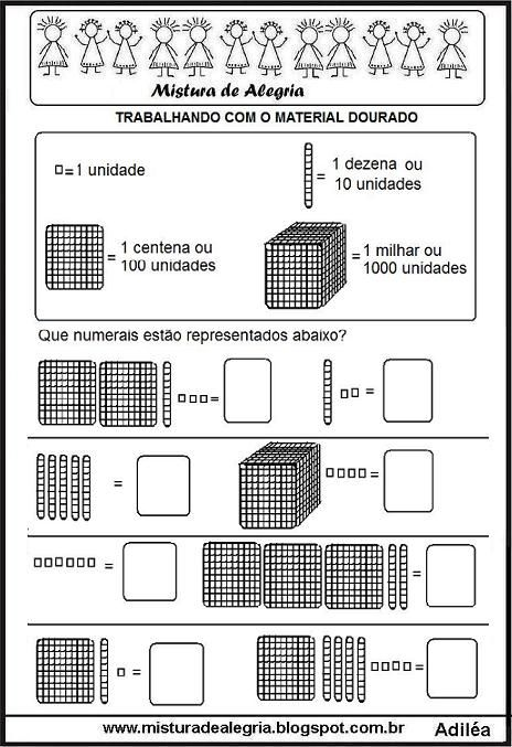 Atividades de matemática 3º ano