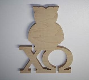 Looking for a unique way to get your Chi Omega craft on? Want to show your big or little your chapter and symbol loyalty?  We've updated this item to make it lighter, easier to paint, and even included a base for free. Dimensions are approximately 10.25 inches wide by 14.75 inches tall by 1/4 inches thick. Ready to paint. Other NPC groups available too. Updated design is in stock and comes with base.