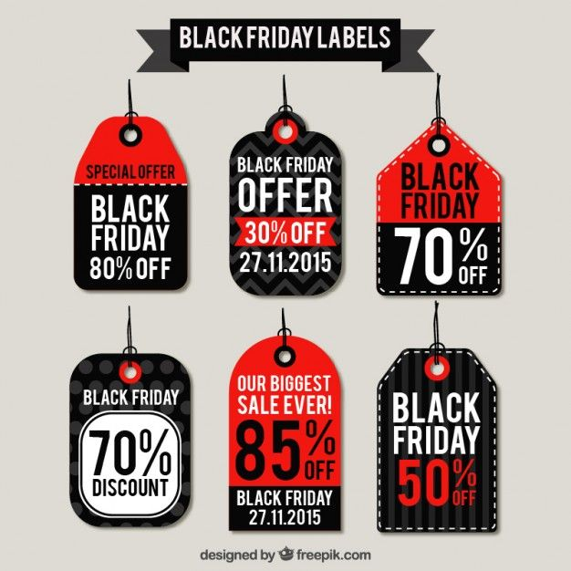 Black friday labels I Free Vector