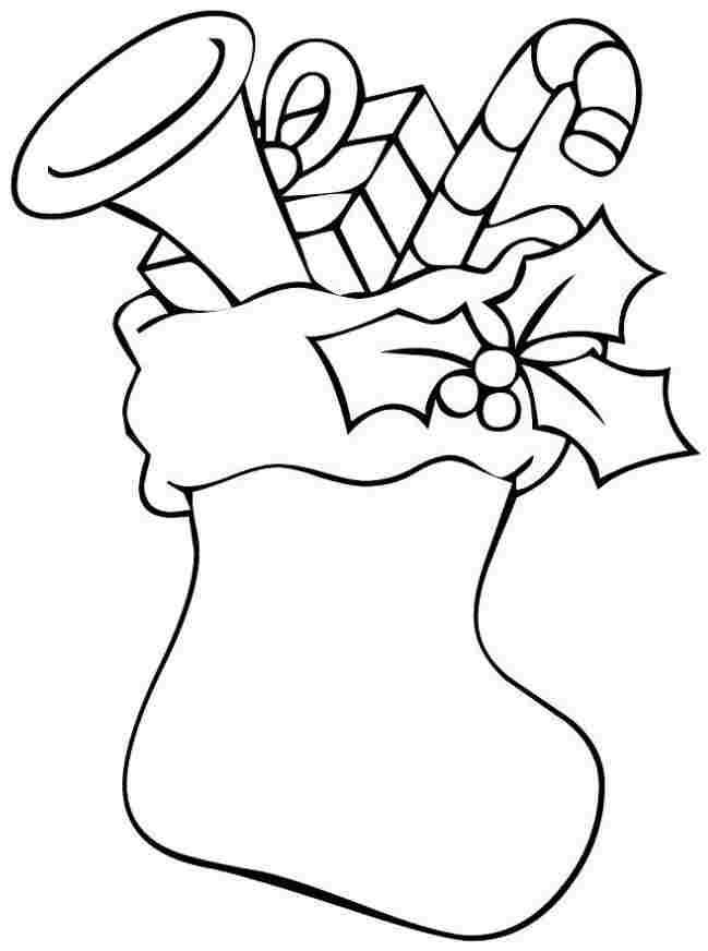 Free Printable Christmas Stocking Coloring Pages Printable