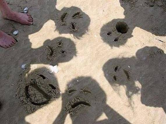 I kinda want to do this:), Sand Faces