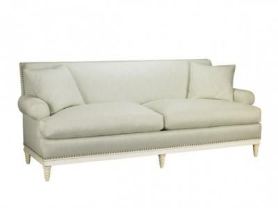 Howard For Sherrill Furniture, Paris Sofa. Overall: In. Arm Height: 25 In.  Seat Height: 19 In.
