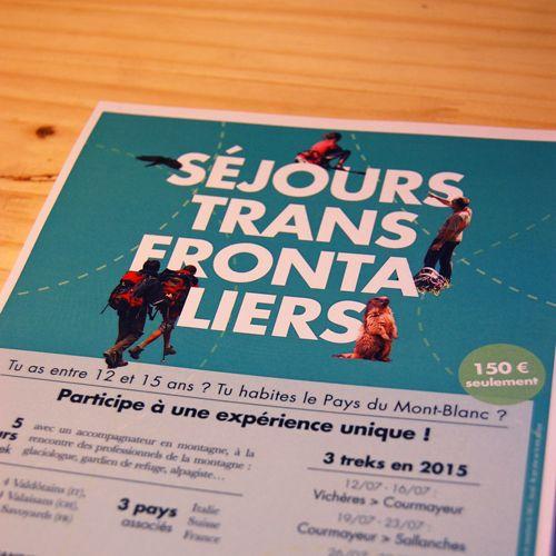 © CCPMB, #randonnée. #hiking; #affiche; #flyer; #vert; #graphisme; #marmotte