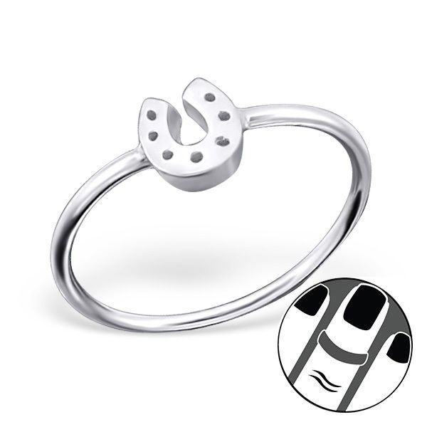 925 Sterling Silver Midi Ring Horseshoe Good Luck US Size 3.5 Body Jewellery
