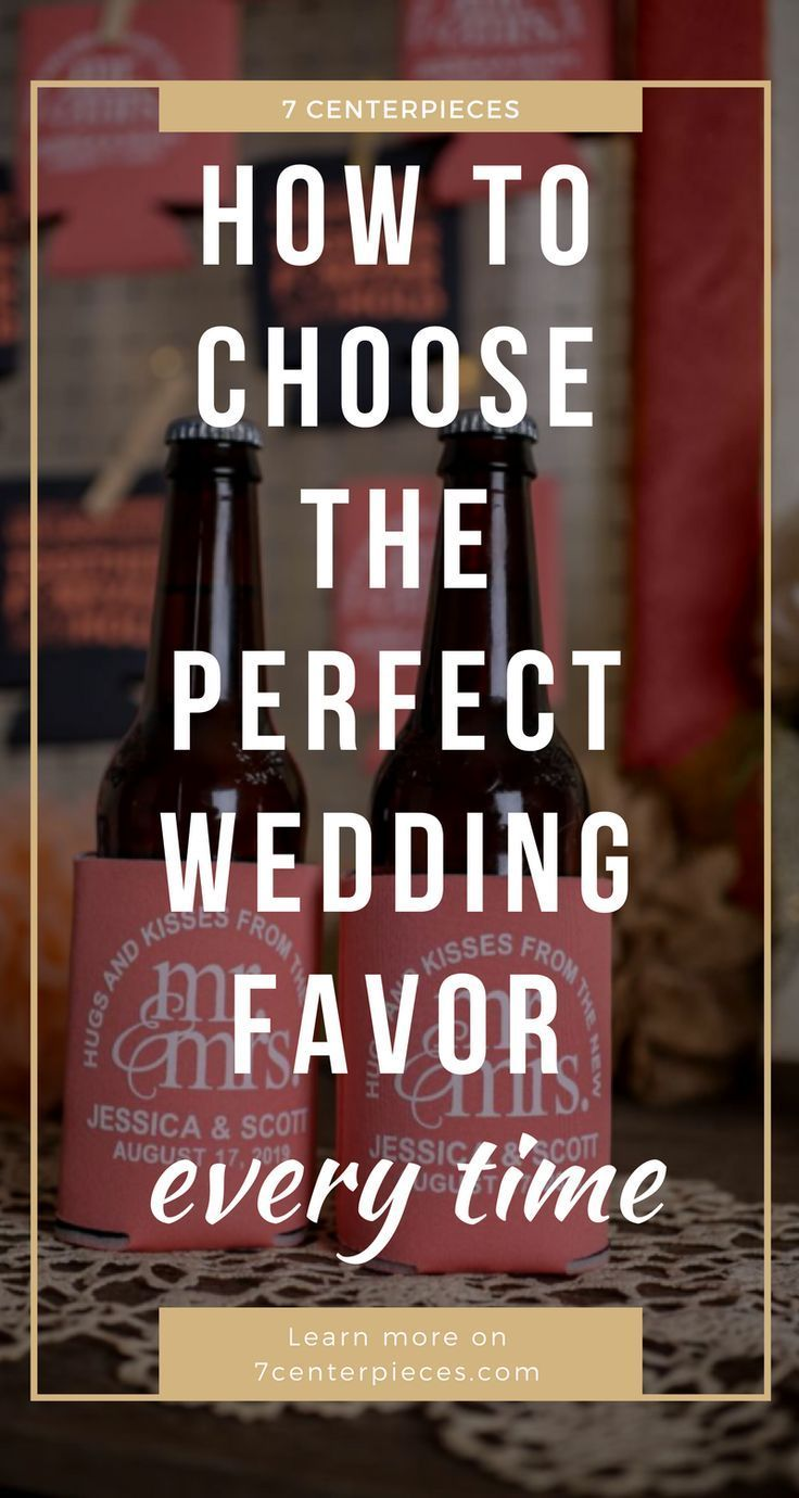 These wedding favors for guests are THE BEST! I'm so happy I found these PRACTICAL and inexpensive wedding favors! Now I have some great wedding favor ideas my guests will love! Definitely pinning! #weddingfavor #7centerpieces