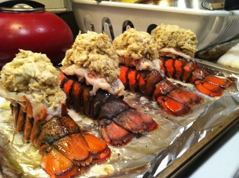 crab stuffed lobster tails 021
