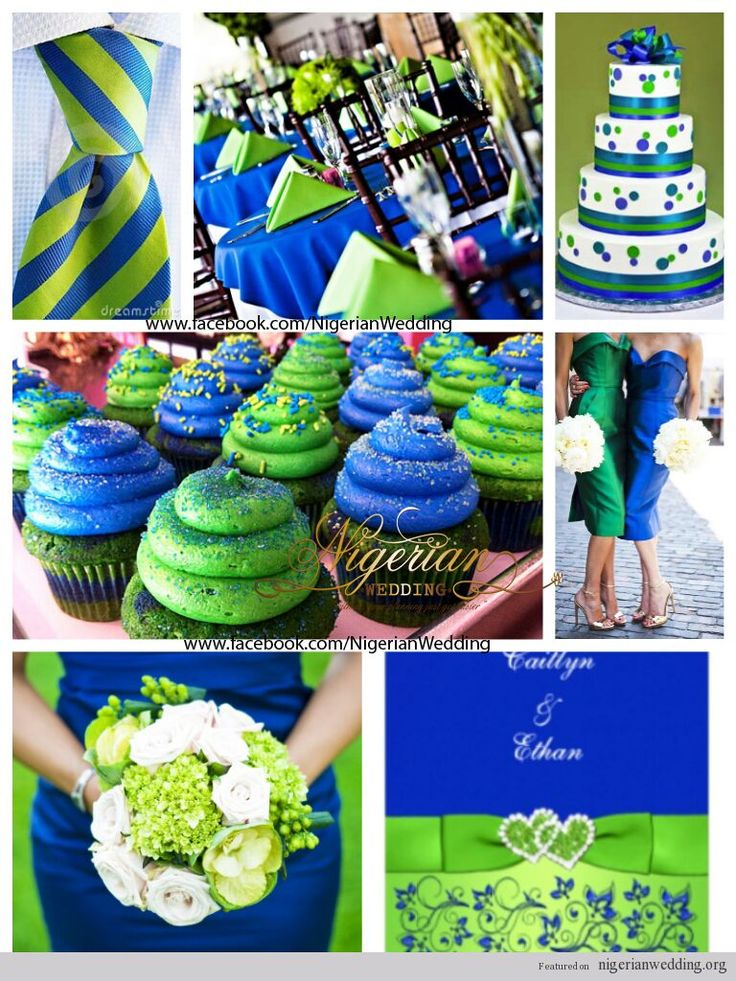 Nigerian wedding colors royal blue lime green - Color schemes with lime green ...