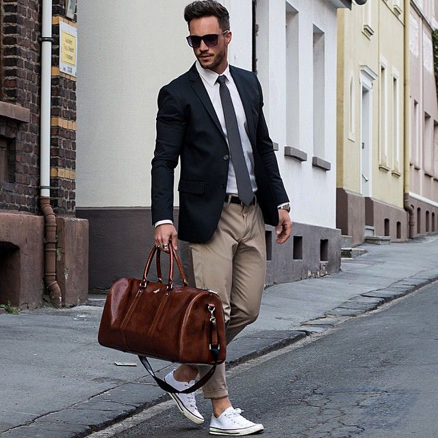 17 Best Images About Men 39 S Black Suits On Pinterest Black Blazers Tan Pants And White Sneakers