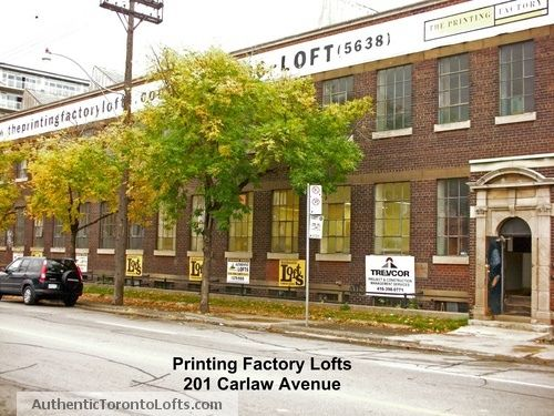 Printing Factory Lofts 201 Carlaw Ave. Toronto #jimsellstoronto #homesinleslieville