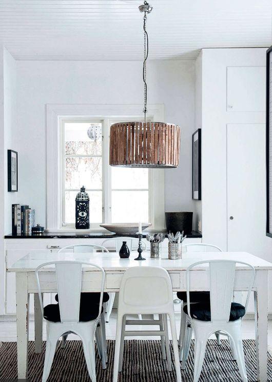 black & white dining room | elle decor.