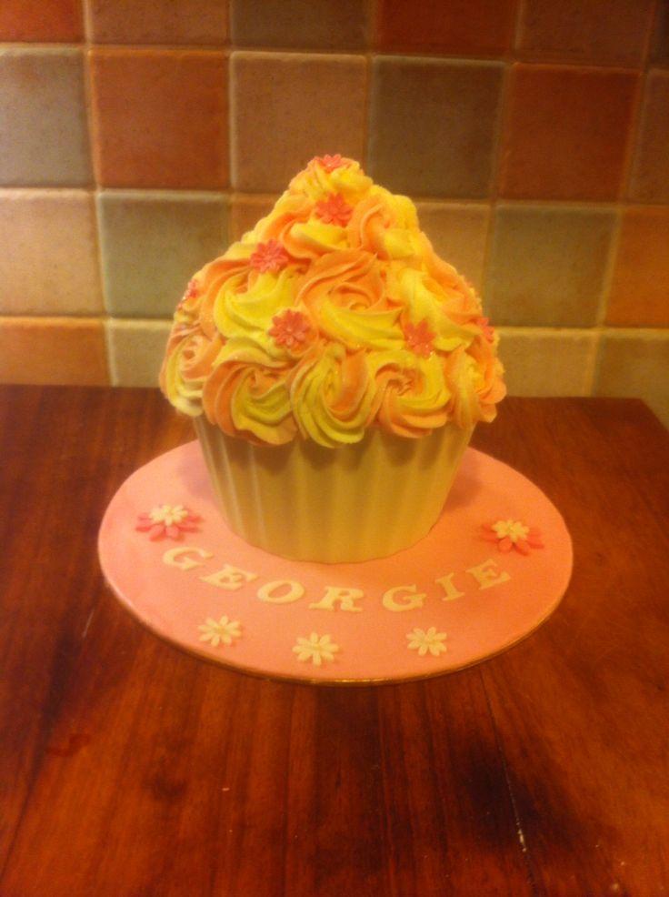 Giant cupcake bday