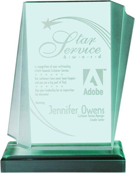 Jade Aztec Acrylic Award