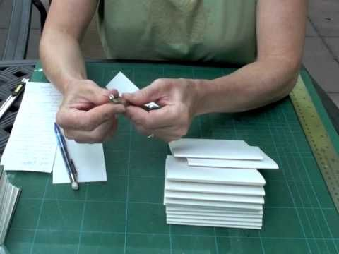 Long Stitch Bookbinding tutorial part 1