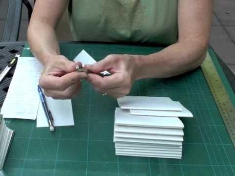 Encuadernado de libros, tutoría parte 1   -   Bookbinding tutorial part 1…