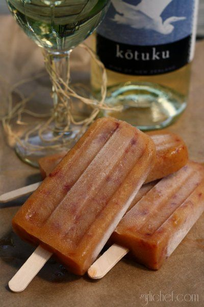 Peach-Vanilla Popsicles: Recipes Popsicles, Sauvignon Peaches Vanilla ...