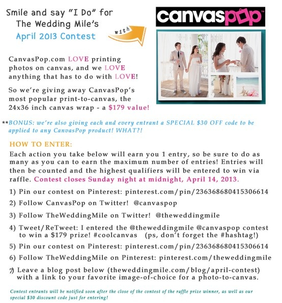 Win a Photo-to-Canvas from CanvasPop.com ... a $179 value!