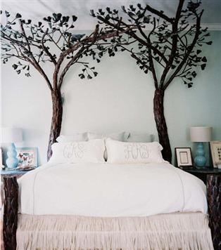 nature inspired bedroom tree shaped bed frame decor