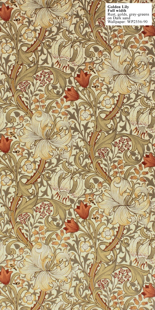 William Morris Golden Lily wallpaper