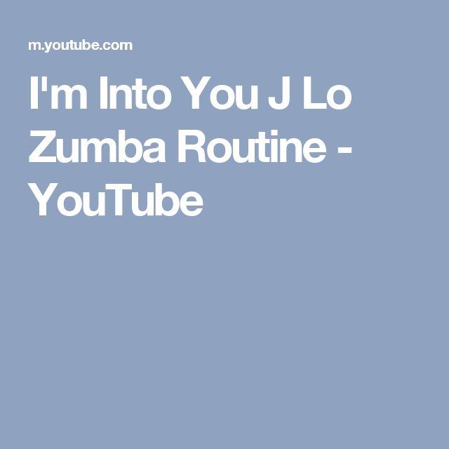 I'm Into You J Lo Zumba Routine - YouTube