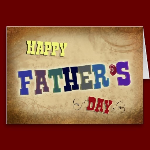 Rustic Happy Father's Day Greeting Card with inside quote