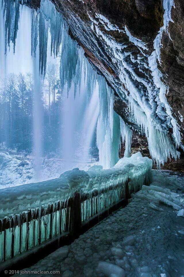 Highlands, North Carolina Dry Falls taken in the cave behind the falls. #northcarolina #waterfalls