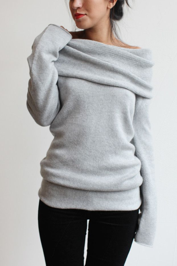 Souchi Claudia Hand Loomed Cashmere Cowl Neck Sweater   souchi