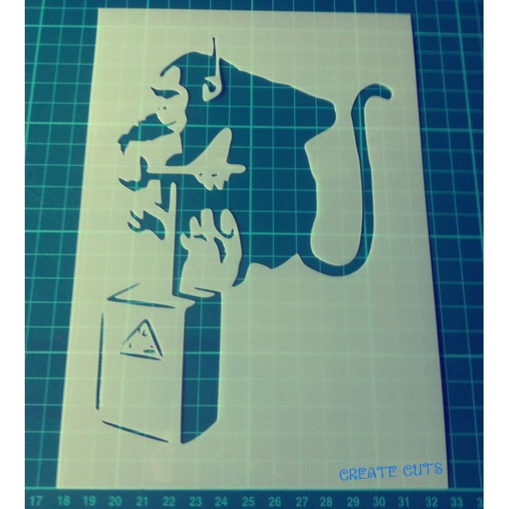 Banksy Monkey Detonator reusable stencil