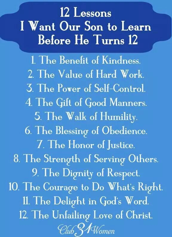 12 lessons for my son to learn before he's 12
