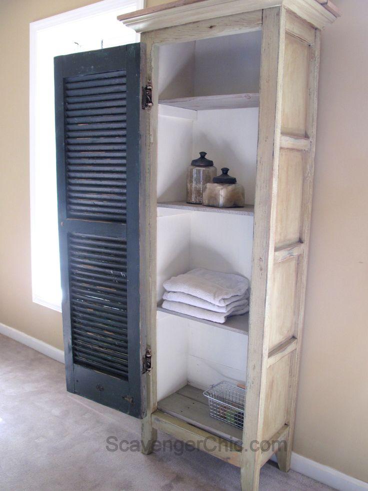 DIY Vintage Shutter Cupboard/Cabinet                                                                                                                                                                                 More