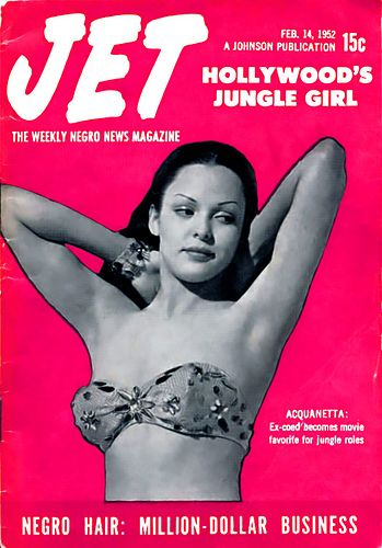 Actress Acquanetta, Hollywood's Jungle Girl - Jet Magazine February 14, 1952 by vieilles_annonces, via Flickr