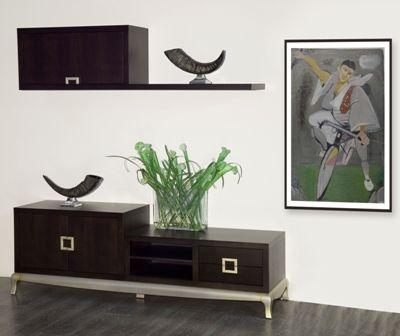 Casa Ampia-Unit Flame- έπιπλο tv - καθιστικό-διακόσμηση σαλονιού-ξύλο Δρυός