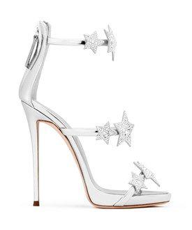 e827460f33a Giuseppe Zanotti Giuseppe Zanotti Design Women s Silver Leather Sandals