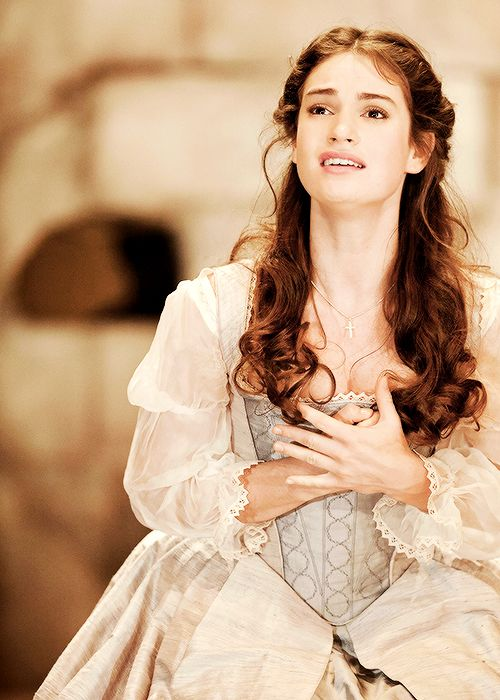 "ljamesdaily: "" ""Lily James as Desdemona in Othello (2011). "" """
