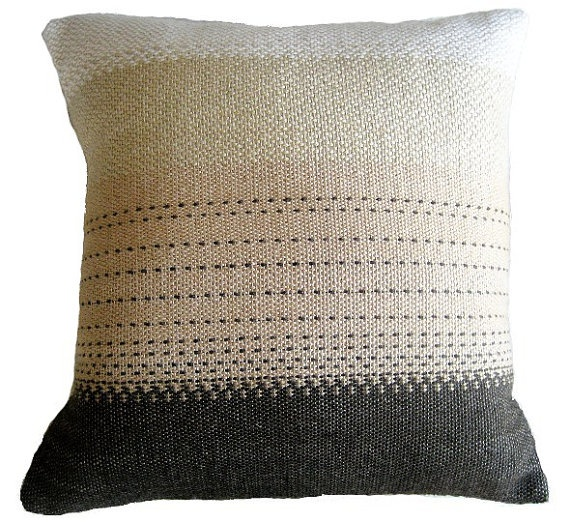 14x14 alpaca silk handwoven pillow by wovenbyhand on Etsy