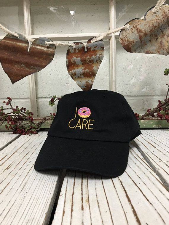 I DONUT CARE Embroidered Baseball Cap Low by PrfctoLifestyle
