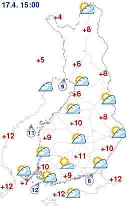 Weather now - The Finnish Meteorological Institute (FMI) is a research and service agency under the Ministry of Transport and Communications.