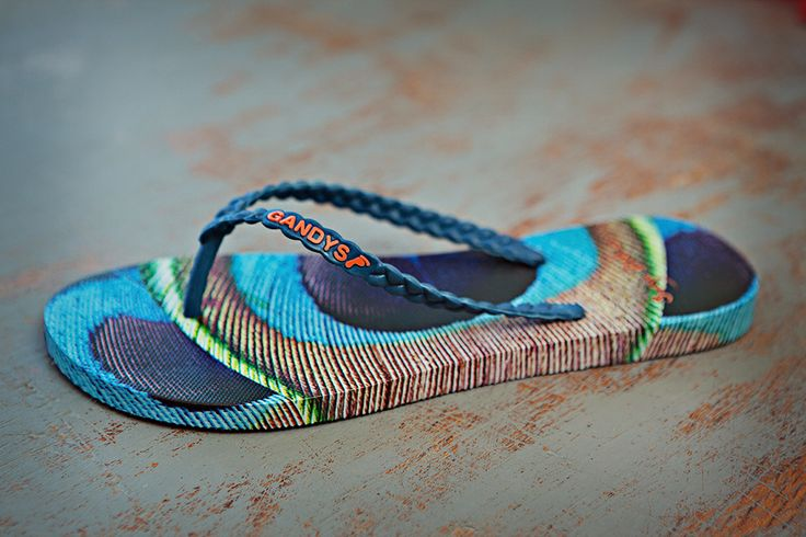 'Peacock Blue' Gorgeous #flipflops with a social conscious from Gandys Flilflops