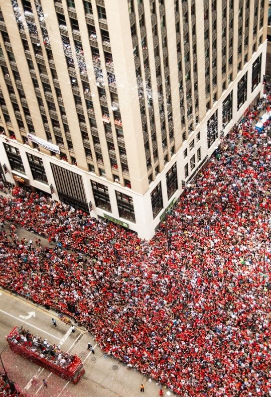 I love that Chicago has the best sports fanatics. It's not about what sport you watch the question is do you go for the Cubs or the Sox?...Blackhawks Parade in celebration of winning the Stanley Cup 2010.