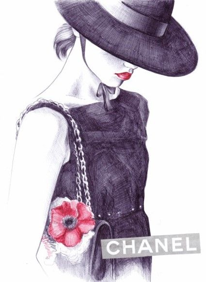 Chanel S/S 2010 | Lena Ker #fashion #illustration