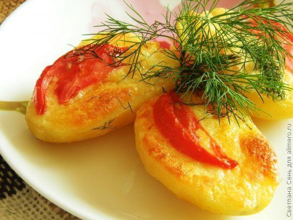 Картофель под чесночным маслом