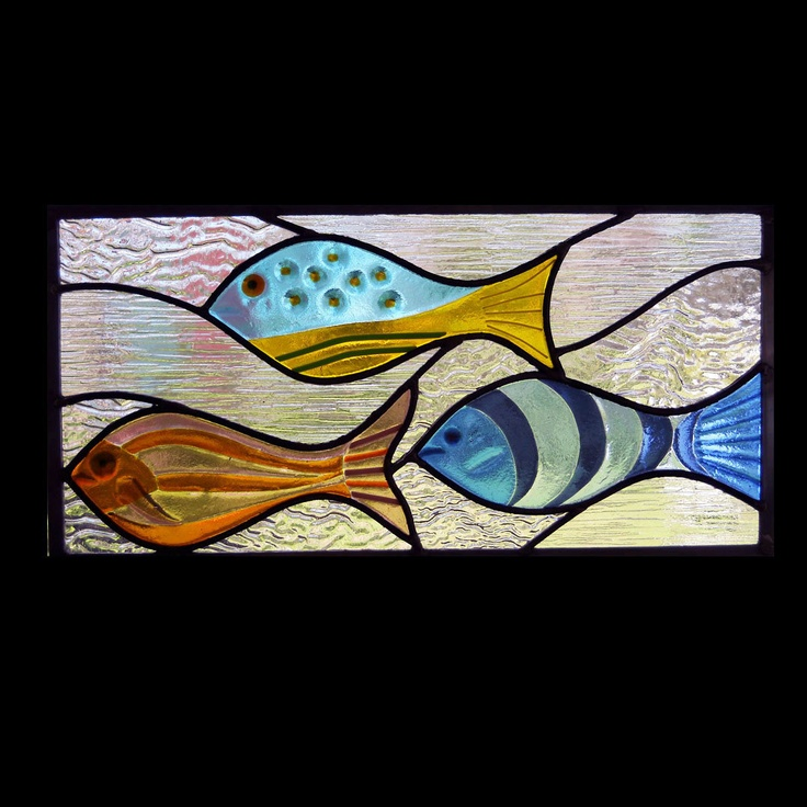 83 best fish images on pinterest mosaics stained glass for Stained glass fish