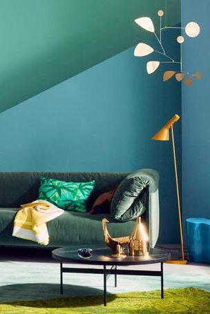 Petrol Als Wandfarbe U2013 So Wird Sie Kombiniert: Petrol Mit Grün | Dunkle  Wandfarben | Pinterest | Petrol, Wandfarbe Und Farbenfroh