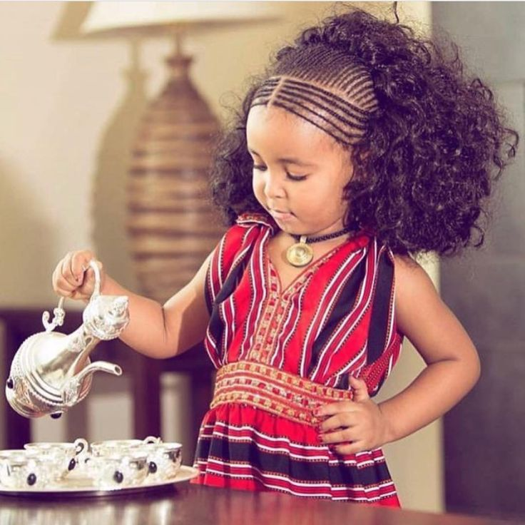 Tribal Hair : Ethiopian Braids Its always all about the front braids and extensions, looks better with curly hair/extensions, even babies slay on Ethiopian braids.