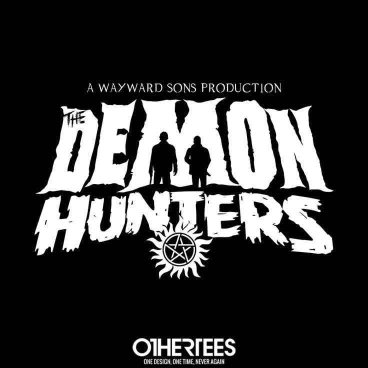 """The Demon Hunters"" by FrozenNorth75 T-shirts, Tank Tops, Sweatshirts and Hoodies are on sale until 12th December at www.OtherTees.com Pin it for a chance at a FREE TEE #Supernatural #SamandDean #Winchester #DemonHunters #OtherTees"